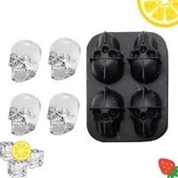 silicone ice cube maker diy creative silica gel skull shape tray mould home bar party cool whiskey wine mold ice cream tools