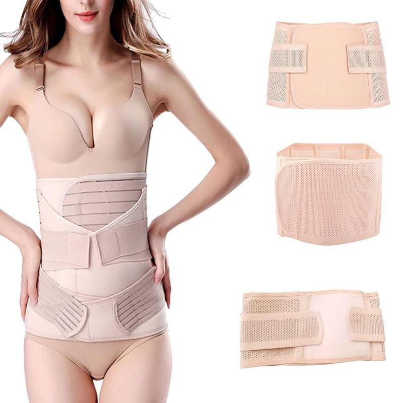 3 In 1 Postpartum Support-pregnant Women Recovery Belly/waist/pelvis Belt Maternity Care Abdomen Shapewear Slimming Girdle