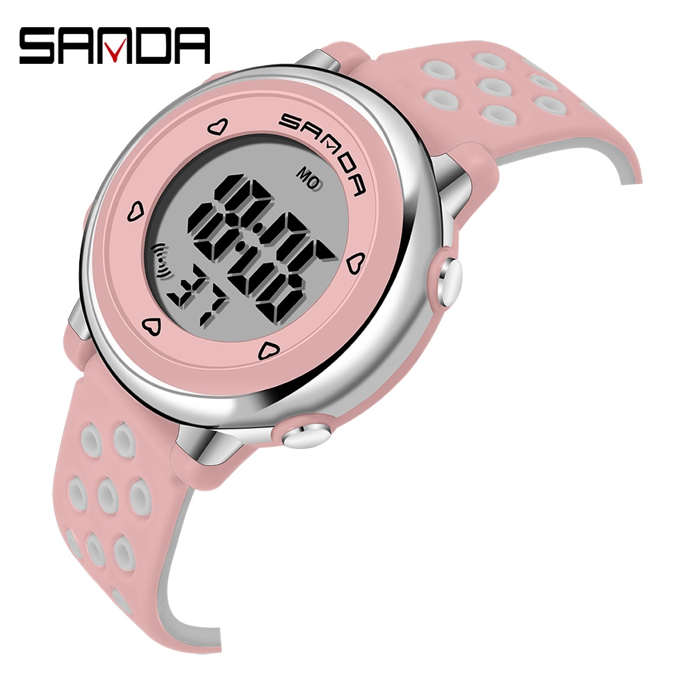 SANDA Kinder Uhr Sport Student Kinder Uhren Jungen Mädchen Uhr Geschenk Kind LED Digitale Elektronische Uhr Junge Mädchen Armbanduhr