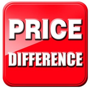 This is the link for the price difference, please do not order it if there is no price difference
