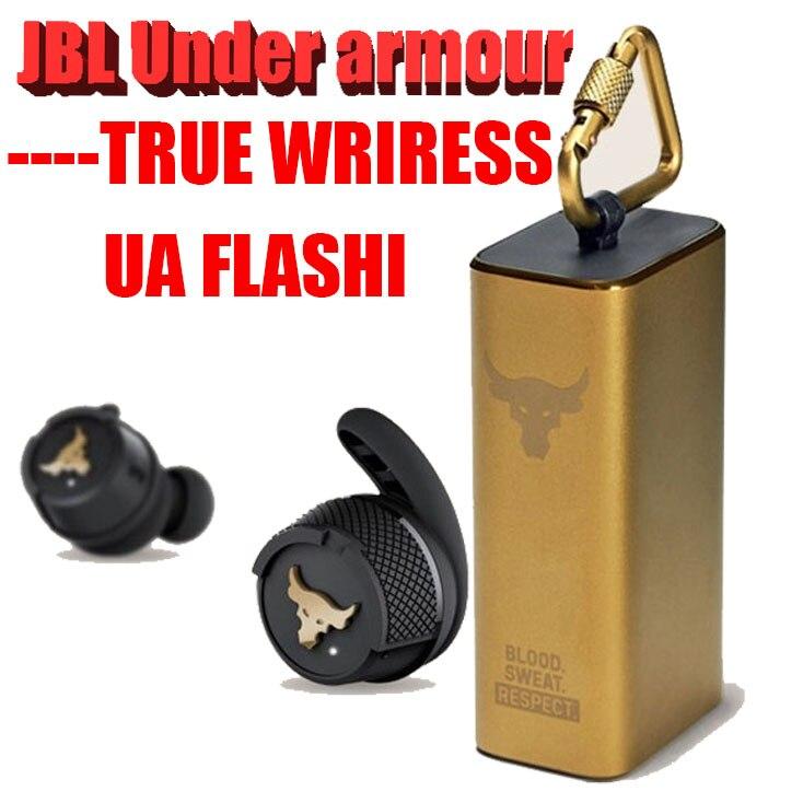[해외] UA 플래시 프로젝트 락 무선 블루투스 헤드셋 인 이어 게임 스테레오 헤드폰 스포츠 이어폰 마이크 포함