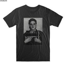 ELVIS PRESLEY MUGSHOT T SHIRT mens cotton tshirt summer black top tees male fashion summer gift tops euro size sbz4371