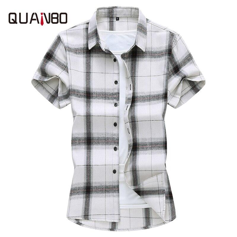 Camisetas casuales de talla grande para hombres jóvenes de verano 2020 nuevas camisas cortas a cuadros de moda ropa de marca 5XL 6XL 7XL