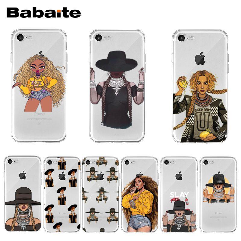 Funda transparente con diseño de música Pop de Babaite Beyonce limonada para iPhone 11 Pro XS MAX XR 8 7 6 6S Plus X 5 5S SE