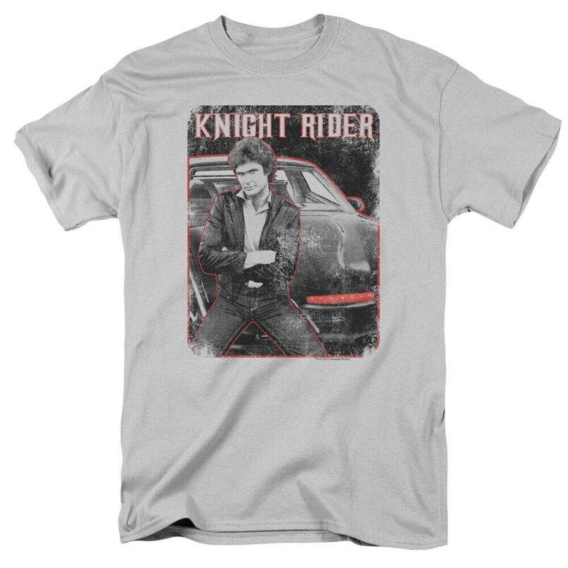 Camiseta personalizada Caballero jinete David Hasselhoff y Kitt con licencia para adultos camiseta Homme