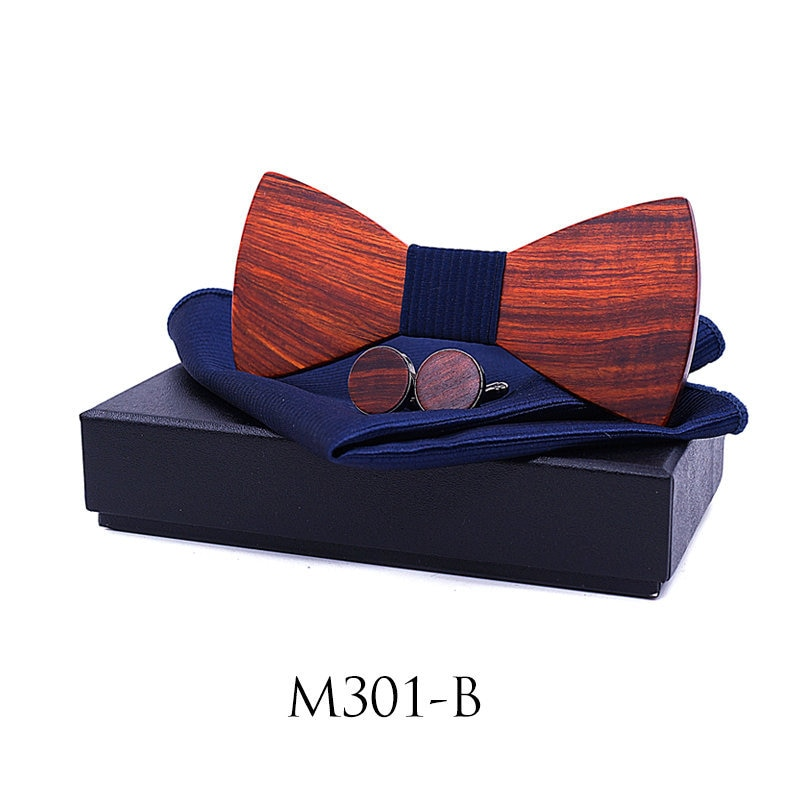 dropshipping wedding gifts for groosmen square scarf cufflinks vogue shirt luxury red sandal wood bow tie set with case