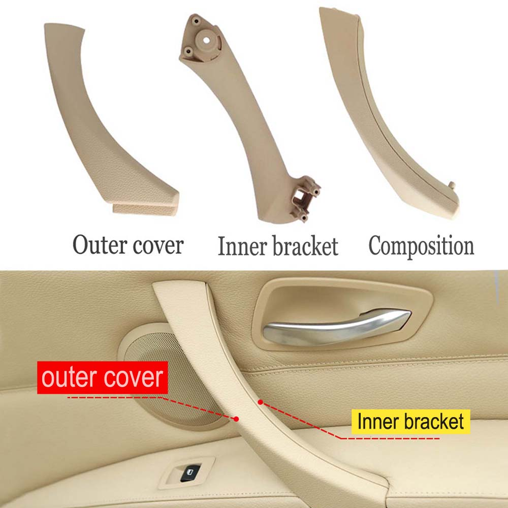 Manija de tirador de puerta, soporte Interior de coche, cubierta embellecedora de tirar del Panel lateral para BMW Serie 3 E90 E91 316i 318d 318i 320d 320i 51416954185
