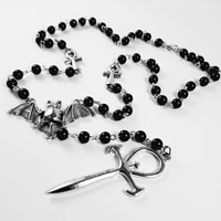 vampire ankh rosaryoccult vamp goth ankh beads bat gothic vampire vampiric beaded egyptian tradgoth jewelry gift handmade