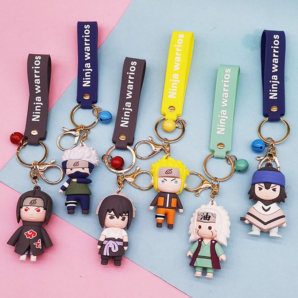 Искусственные фигурки Наруто 6 шт., аниме-фигурки Q Version Kakashi брелок с символикой Наруто, милые детские игрушки в подарок