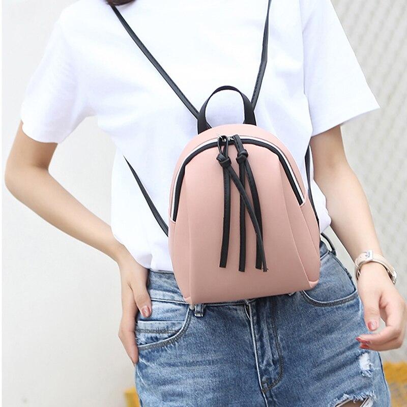 2019 летние многофункциональные мини-рюкзаки, маленький рюкзак, женская кожаная сумка через плечо, Женский Школьный рюкзак, сумка для девочек-подростков