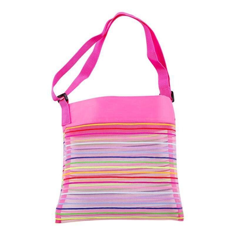 Plegable bolsa de playa niños bolsa de red de almacenaje de playa al aire libre parque juguetes toallas, ropa, organizador bolso de natación caliente