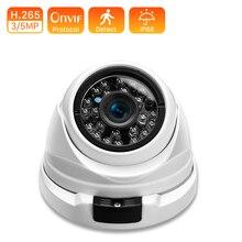 H.265 1080P zewnętrzna kamera przewodowa IP 5MP opcjonalnie wykrywanie ruchu monitorowanie mobilne Alert e-mail ONVIF kamera telewizji przemysłowej bezpieczeństwo POE 48V