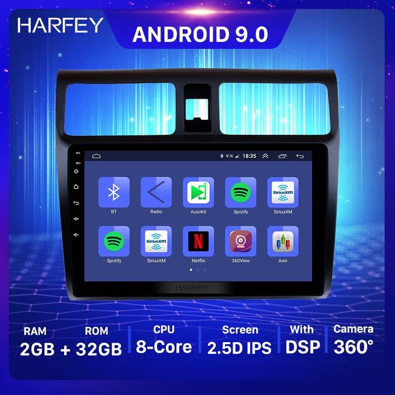 "Harfey carro gps 2din hd 10.1 ""android 9.0 navi estéreo para suzuki 2005 2006 2007 2008 2009 2010 swift unidade de cabeça suporte dvr 1080p"