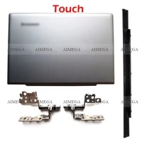 silver new touch laptop lcd back coverhingeshinges cover for lenovo ideapad u330 u330p u330t 3clz5lclv00