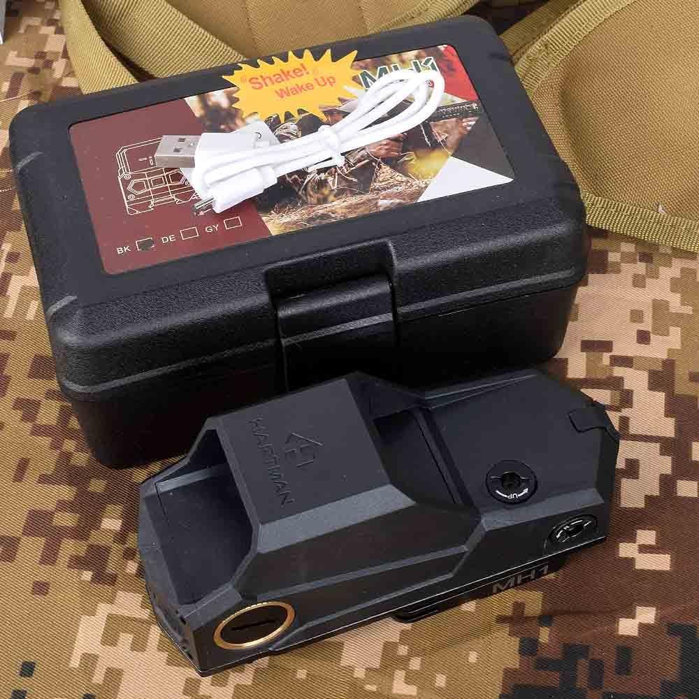 MH1 красный точечный прицел двойной датчик движения рефлекторный прицел большое поле с QD быстрое отсоединение и USB зарядное устройство для т...