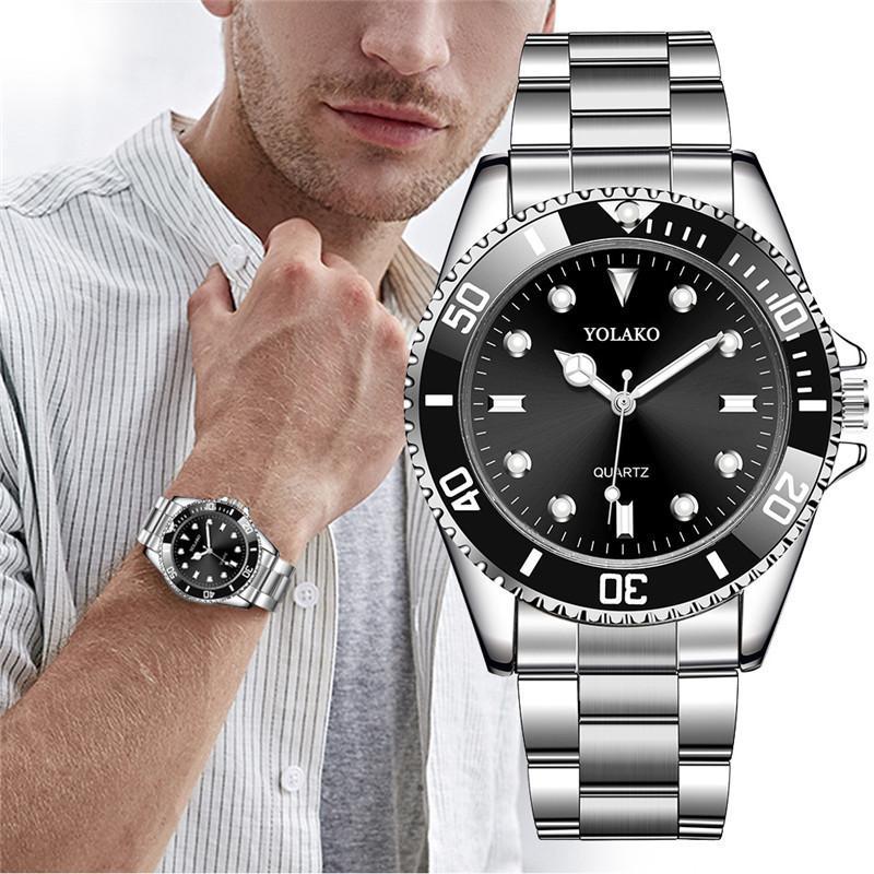 Hommes montre de luxe mode militaire en acier inoxydable Sport Quartz analogique montre-bracelet offres spéciales hommes montres mâle masculin relogio