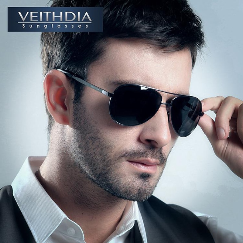 VEITHDIA Brand Men's Pilot New Polarized Sunglasses men Sun Glasses Alloy Frame Driving Glasses oculos de sol masculino shades