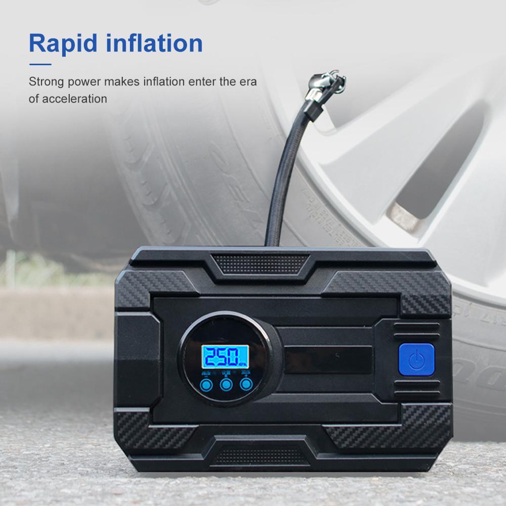 150PSI Car Motobike Tire Inflator Digital Air Pump With LED Light Car Air Compressor For Car Motorcycle Light Tire Pump DC12V enlarge