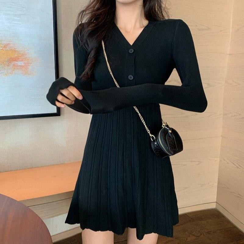 2021 primavera roupas femininas saia de lã de malha vestido de fundo novo outono e inverno saia pequena 150cm