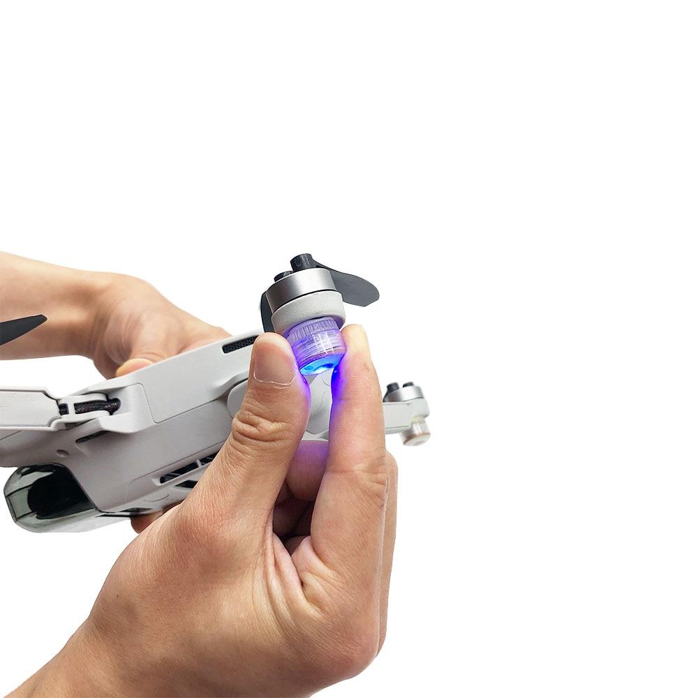 Mini lámpara de señal de vuelo nocturno Mavic, iluminación de liberación rápida, colorida luz LED de búsqueda para Mini Drone DJI Mavic, accesorios