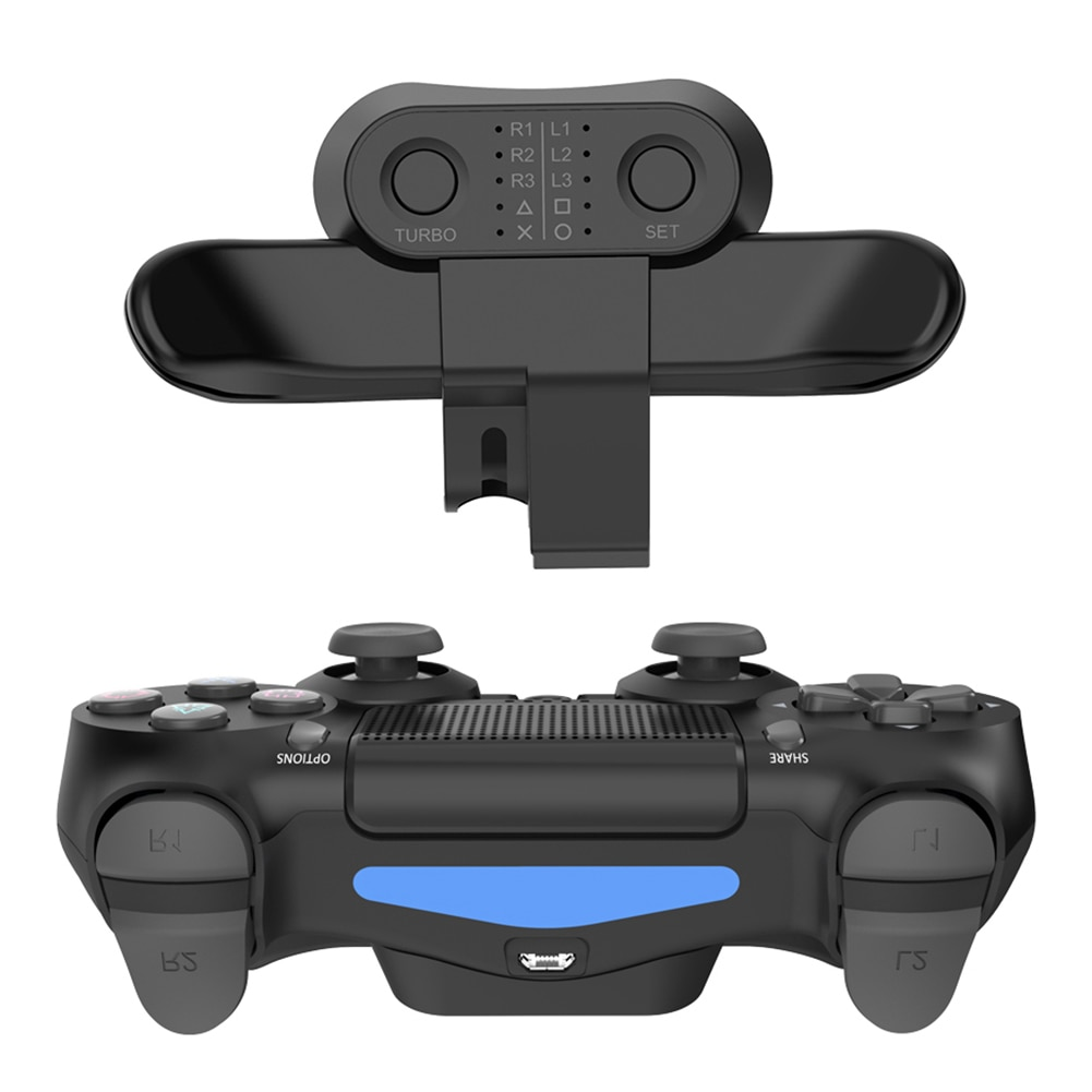 For SONY PS4 Extended Gamepad Back Button Attachment Controller Paddles For DualShock4 Rear Extension Keys Adapter Accessories