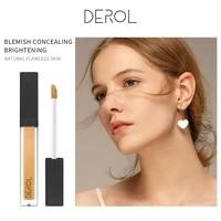 derol 6 color liquid concealer face beauty acne scar full coverage makeup concealer long lasting moisturizing glazed concealer