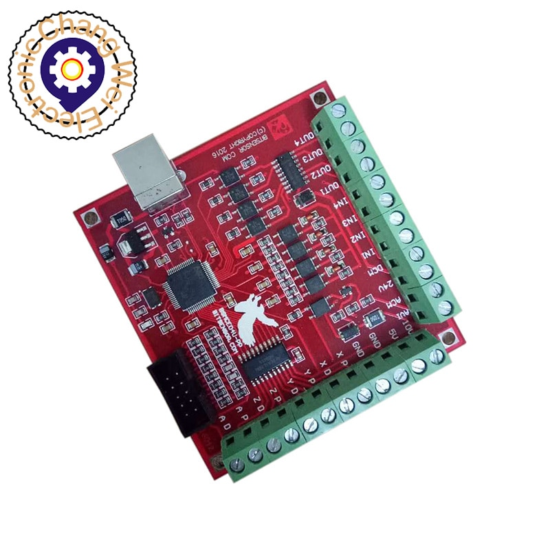 CNC Red Breakout Board USB MACH3 100Khz 4 Axis Interface Driver Motion Controller Driver Board 4 axis cnc breakout board parallel stepper motor driver module lv8727
