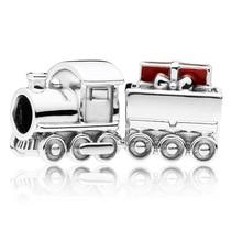 Moda 925 srebro koraliki pociąg bożonarodzeniowy sznurki Charms fit oryginalne bransoletki Pandora DIY biżuteria dla kobiet