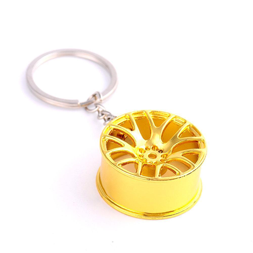 Fit Wheel Rim Keychain Creative Auto Part Car Keyring Accessories Ring Key fob Key Ring Rings Key Chain Interior Car Key Q9Q2