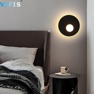 11W LED Wall Lamp Light Fixture for Bedroom AC220V Indoor Ultr thin Wall Sconce for Stair Bedside Living Room Home Hallway