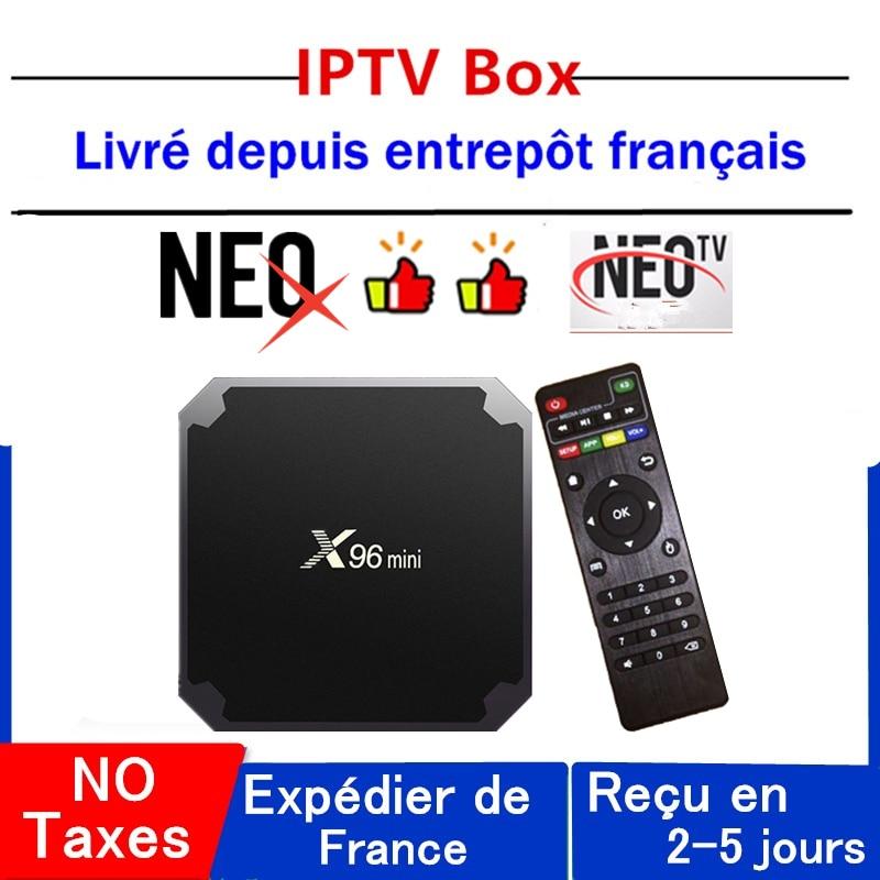 Mejor neox iptv caja x96 mini neo tv pro android tv caja 1G 8G 2G 16G neotv pro x96mini inteligente ip decodificador