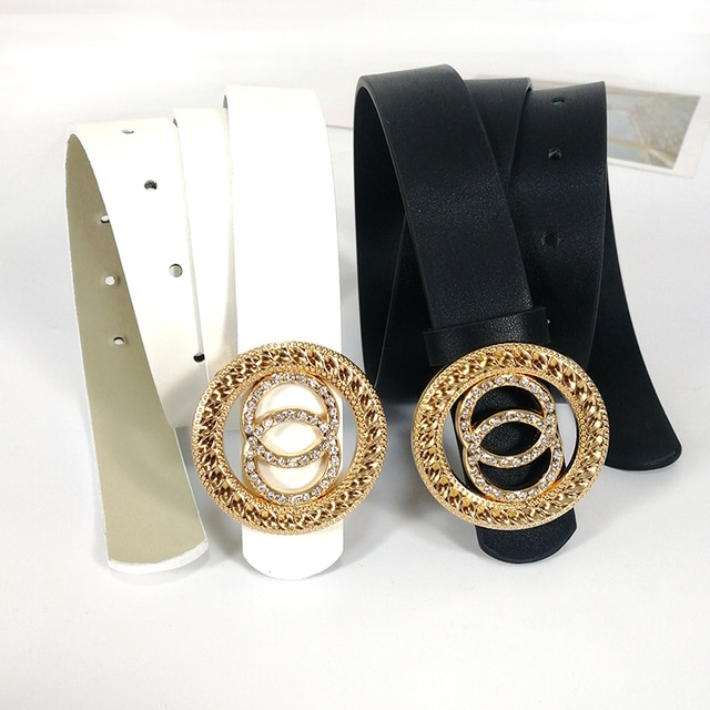 Designer belts for women high quality ladies jeans belt with rhinestone G cinturon mujer luxury brand strap dress waistband