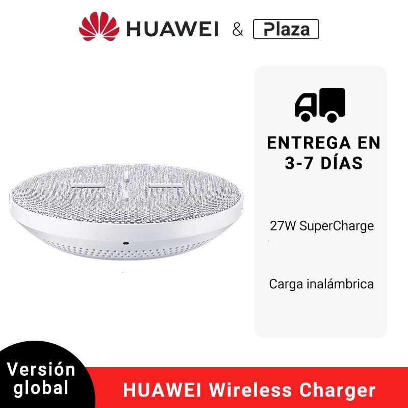 Cargador inalámbrico Original HUAWEI SuperCharge 27W compatible con Android IOS soporte QI inalámbrico