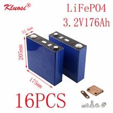 16PCS KLUOSI 16S/48V Battery Pack 3.2V176Ah LiFePO4 Battery FOR Solar Energy Storage Inverter EV Marine RV Golf US/EU TAX FREE