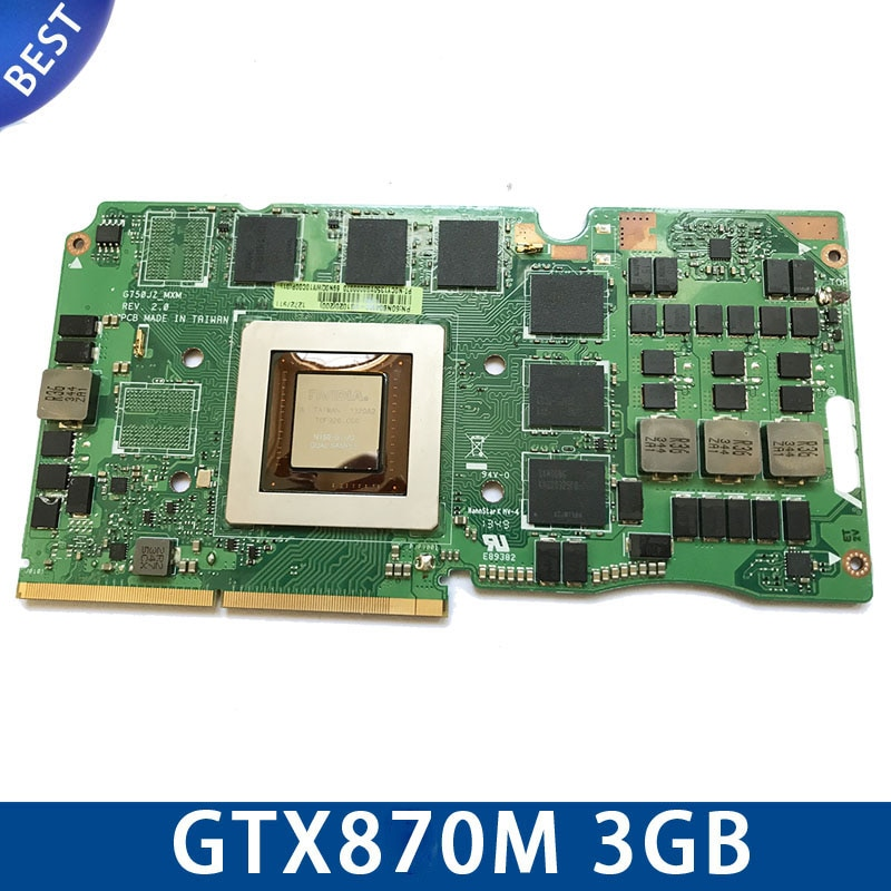 ل Asus G750J محمول بطاقة G750Js N15E-GT-A2 G750JZ GTX870M GTX 870M 3GB VGA رسم بطاقة الفيديو بطاقة 60NB0180-VG1040