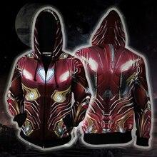 Avengers Endgame Cosplay Superhero Iron Man Thor Zipper Hoodes Quantum Realm Costumes Sweatshirt Jacket Superhero Hooded