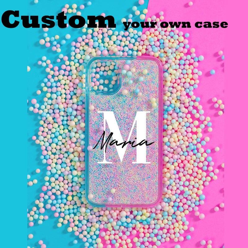 Чехол с именем на заказ для iphone 12 Pro Max SE 2020, чехол с милыми шариками макарон, чехол «сделай сам» с логотипом для iphone 11, чехол 6/7/8 Plus XS XR, чехлы