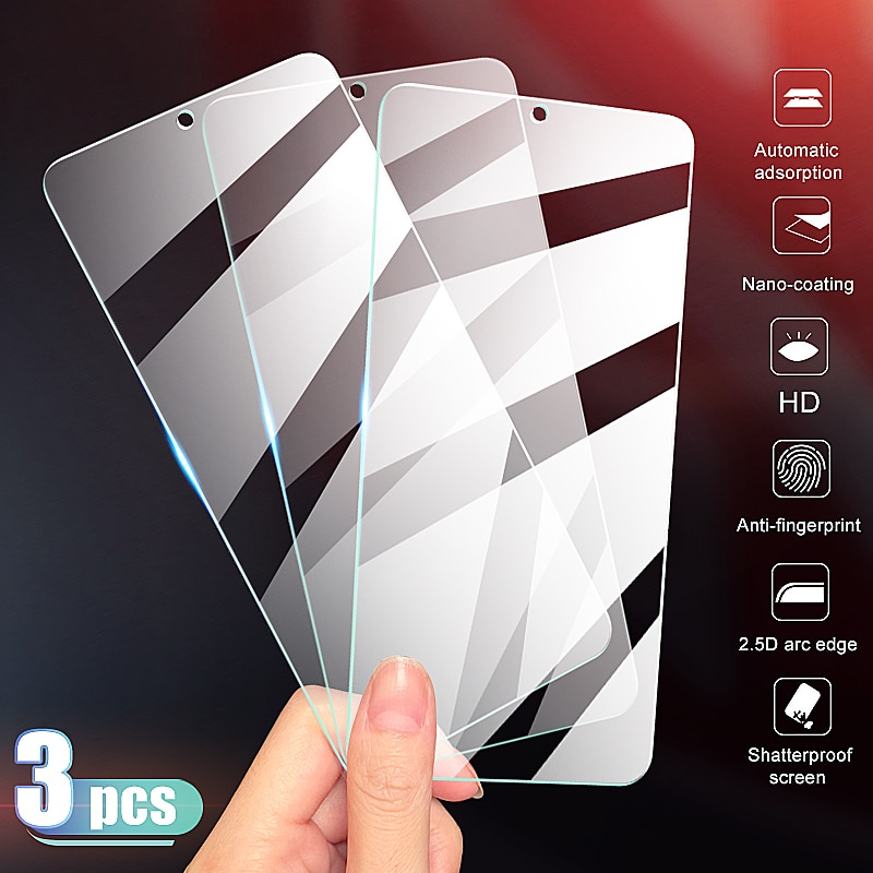 3Pcs Full Cover Tempered Glass on the For OnePlus 7 7T Screen Protector For OnePlus 6 6T 5 5T 3 3T 7
