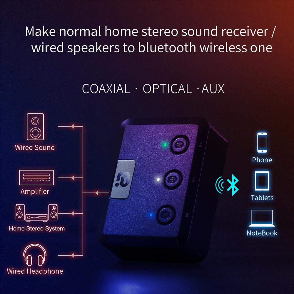 Optical Coaxial Wireless Bluetooth 5.0 HD Audio Receiver aptX HD 3.5mm Aux Bluetooth  Receiver Adapter for Car,Speakers MR235PRO enlarge