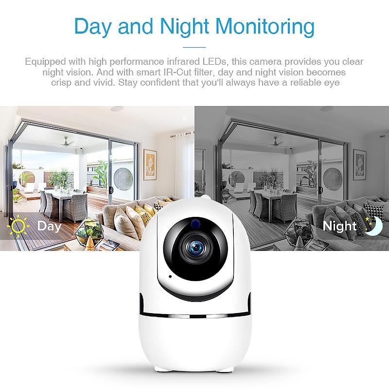 Hd 1080p nuvem ip câmera de vigilância de segurança em casa câmera de rastreamento automático rede wi-fi câmera cctv sem fio ycc365