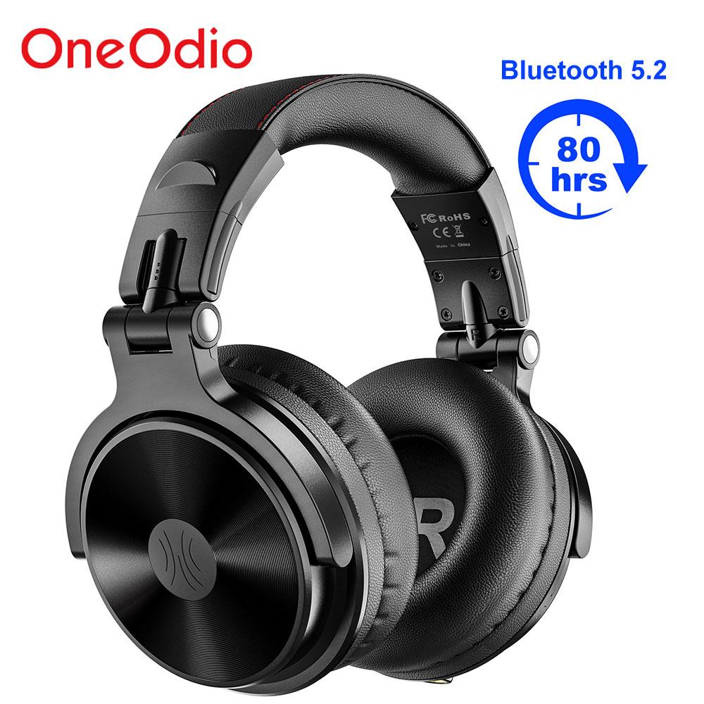 Oneodio Pro-C اللاسلكية سماعة بلوتوث 5.2 سماعة رأس بمايكروفون طوي عميق باس سماعة ستيريو ل هاتف الكمبيوتر