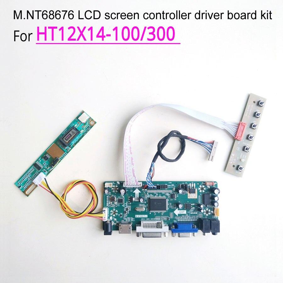 Плата контроллера экрана MNT68676, 300 дюйма, 12,1*1024, для HT12X14-100/768 VGA + DVI LVDS 20Pin CCFL ЖК-панель монитора