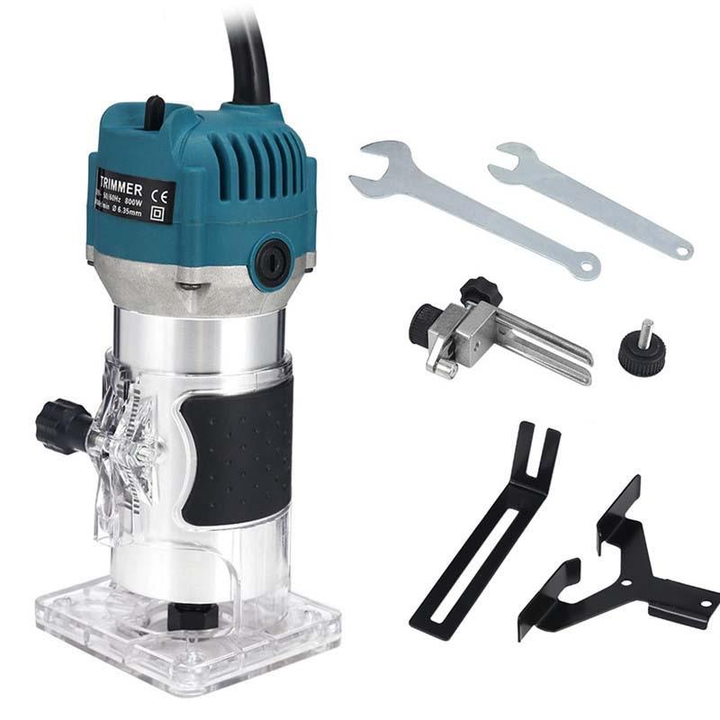 EU UK US plug 800W trimmer elettrico per la lavorazione del legno, fresatrice per incisioni su legno, rifilatrice per legno