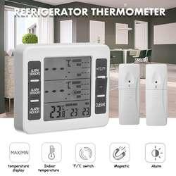 Temperatura-umidade-medidor estação meteorológica ao ar livre indoor sem fio lcd digital higrômetro estação digital-termômetro relógio