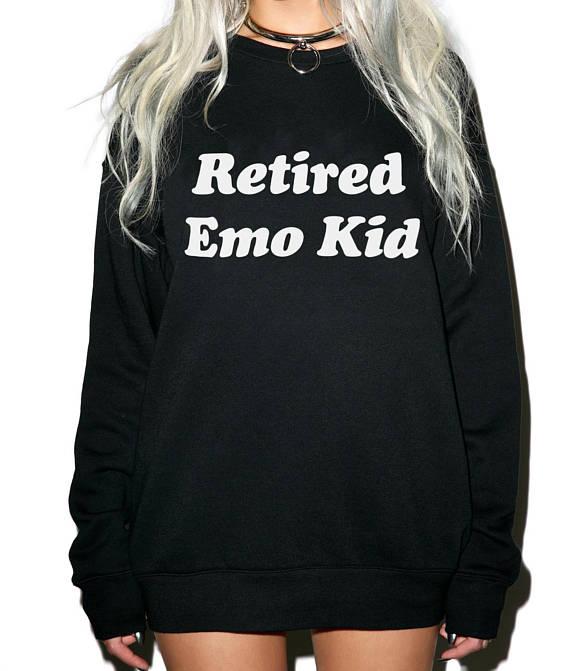 Retirado Emo Hipster Grunge Instagram estética camisas Pinterest divertido sudadera mujeres sudadera chico sudadera Tumblr camisas