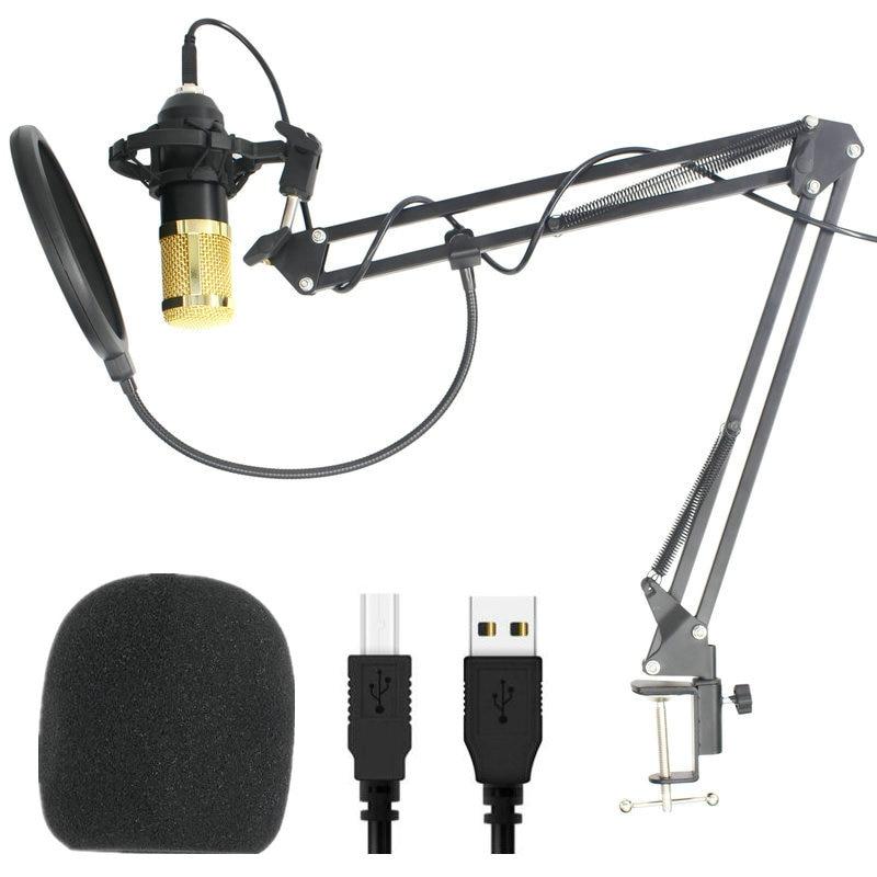 Micrófono condensador USB ajustable plegable Microfone t Studio Microfone PC ordenador micrófono para juegos de grabación de Youtube PK BM 800