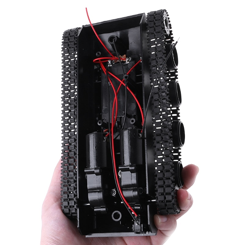 Amortecimento equilíbrio tanque robô chassis plataforma controle remoto diy para arduino 634f