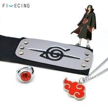 Collar de anillo de diadema Itachi para hombre y mujer, accesorios de personaje Ninja Akatsuki deitara, accesorios geniales, 3 piezas