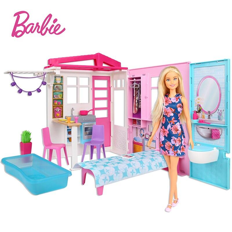 Muñecas originales de Barbie para niñas, Set de casa de vacaciones, accesorios...