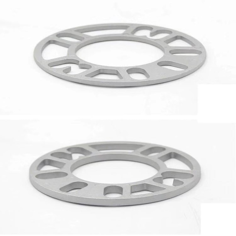 2 pces universal liga de alumínio 3mm 5mm 8mm 10mm carro roda espaçador calços placa parafuso prisioneiro para 4x100 4x114.3 5x100 5x108 5x114.3 5x120